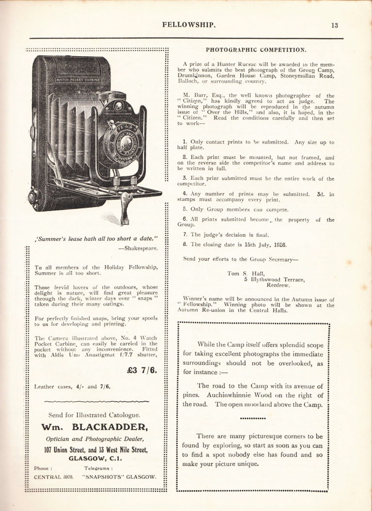 Photo Competition 1926