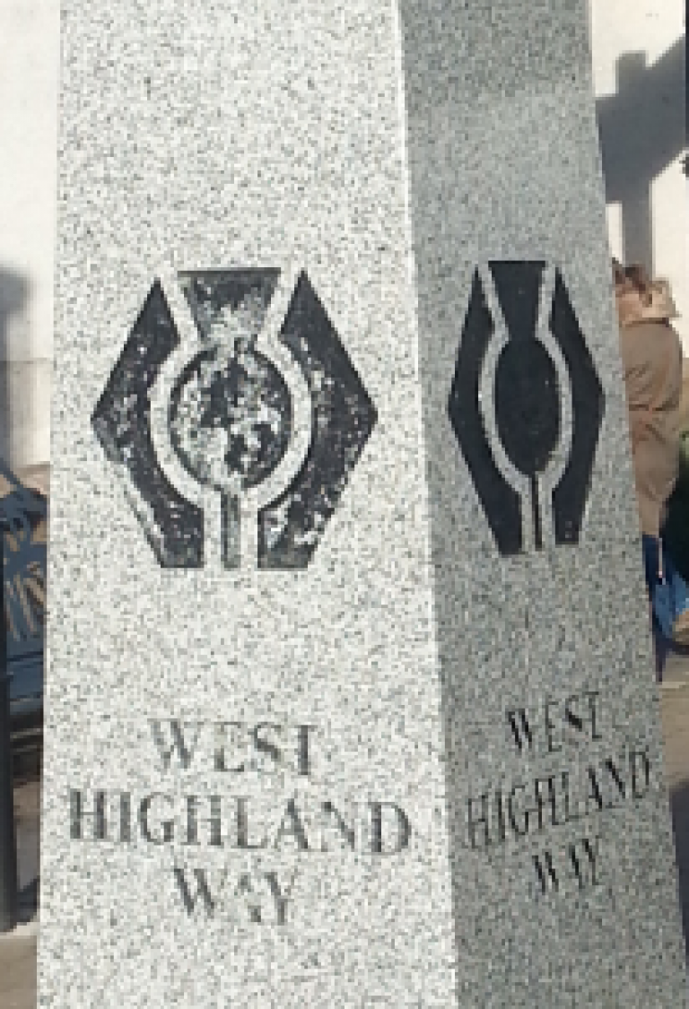 The start of the West Highland Way