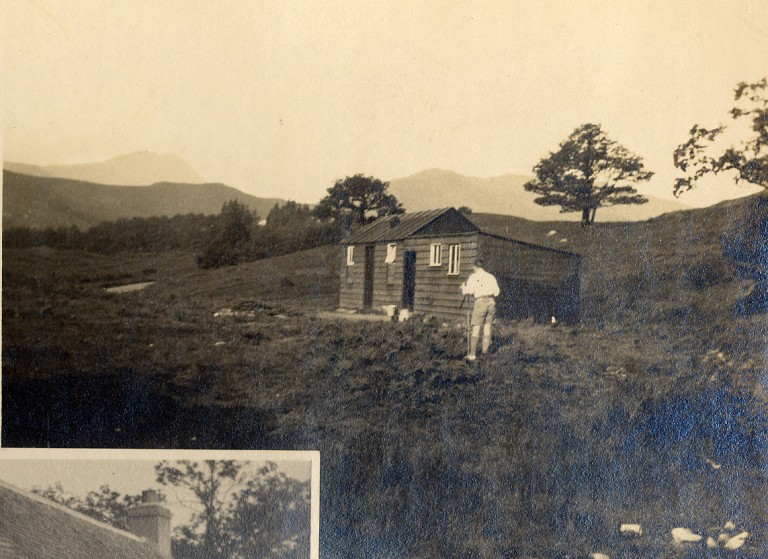 CHAPTER 4 photo 3 'The Rucksack Club Hut , Kinlochard , late 20's'